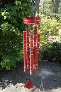 Chorus Wind Chime, 102 cm rich red