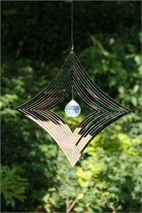 Diamond Wind Spinner with Crystal