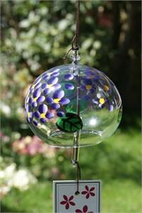 Purple Hortensia Wind Chime